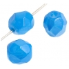 Fire polished 6mm Blue On Crystal